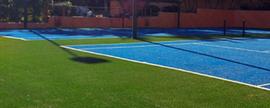 Cancha de tenis Pasto Sintético de 20mm de altura