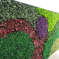 Follaje Artificial en muro