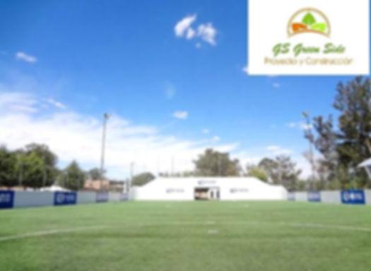 Cancha de futbol con pasto sintético GS Green Side