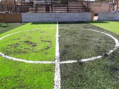 Cancha de Pasto  Sintético futbol 5 franjeada