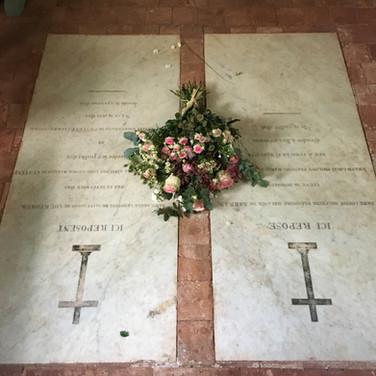 Gerbe déposée sur les tombes