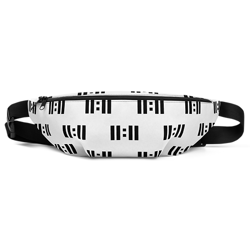 11|Eleven All Over Print Black Logo Fanny Pack