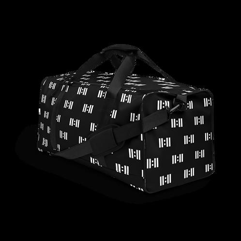 11|Eleven 8bit Alll Over Print Black Duffle Bag