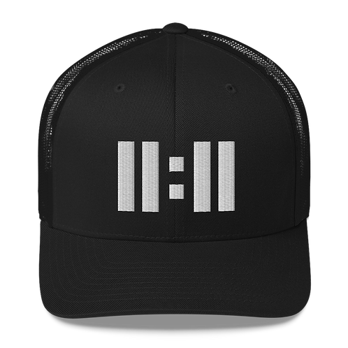 11|Eleven Black Logo Trucker Cap
