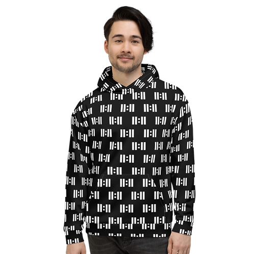 11 Eleven White Logo All Over Print Hoodie