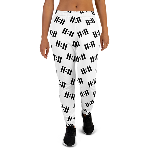 11|Eleven Black Logo All Over Print Women's Joggers