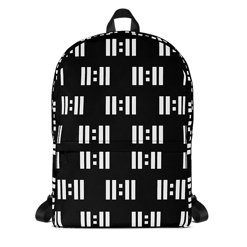 11|Eleven White Logo All Over Print Backpack