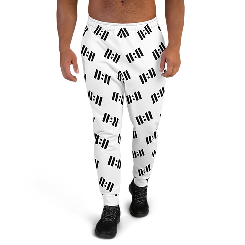 11|Eleven Black Logo All Over Print Men's Joggers