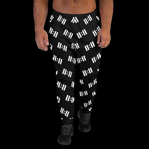 11|Eleven White Logo All Over Print Men's Joggers
