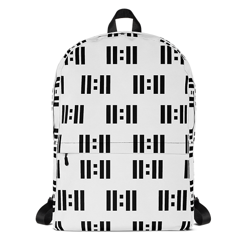 11|Eleven Black Logo All Over Print Backpack