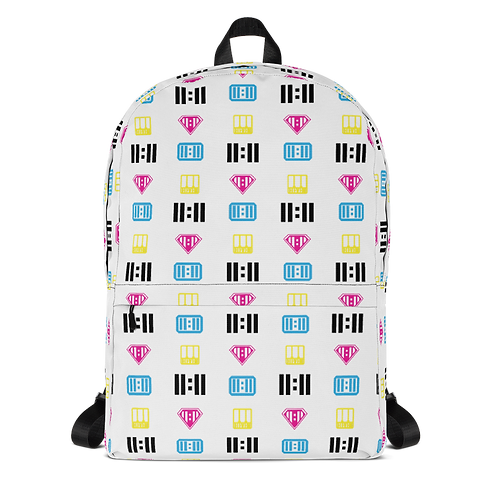 11|Eleven Mash-able White All Over Print Backpack