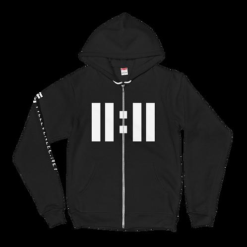 11|Eleven White Logo Hoodie Sweater