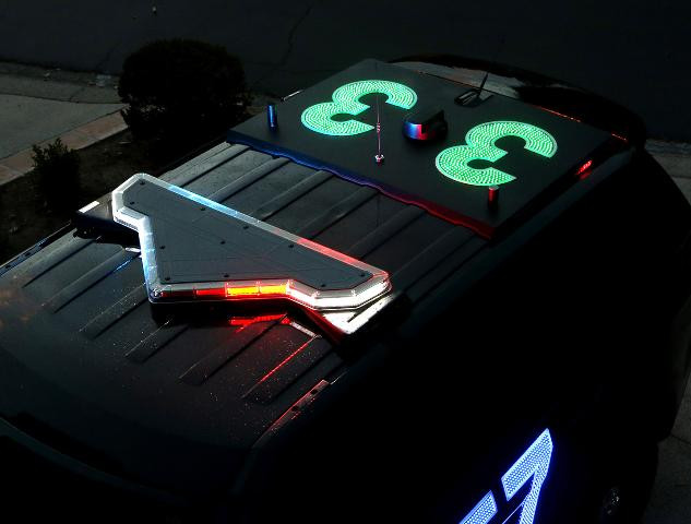 Lighted Police car numbers