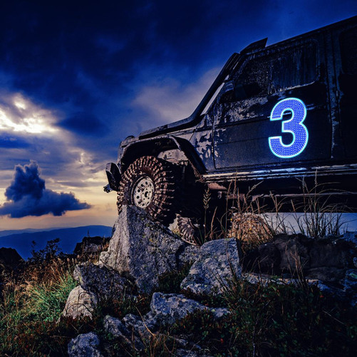 AirelXL Off road Jeep lighted numbers