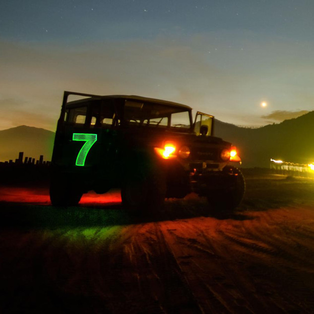 LED offroad lighted numbers