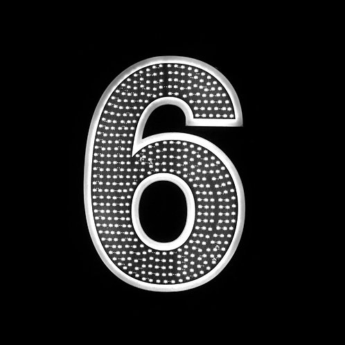 """16"""" Number Six (6)"""