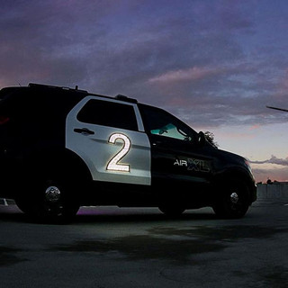 Airport LED lighted car number