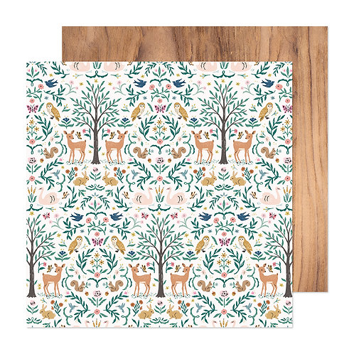 Crate Paper Marigold Very Deer Patterned Paper Sheet