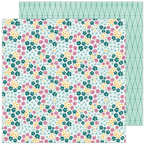 Amy Tangerine Brave and Bold Flower Fields patterned paper