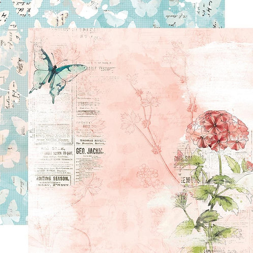Simple Stories Cottage Fields Dream More patterned paper sheet