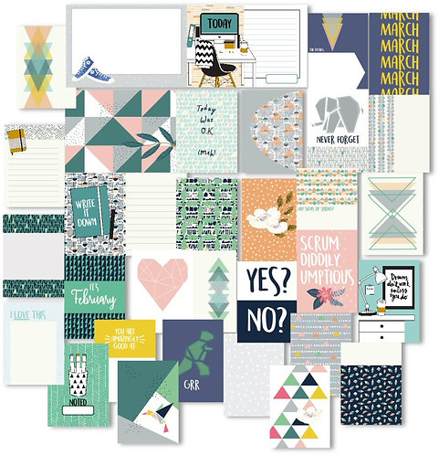 Equilateral Custom Cards Set for pocket scrapbooking