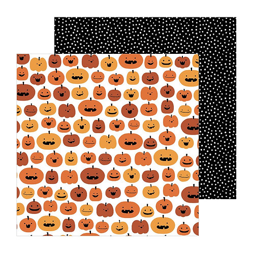 Pebbles Spoooky Pumpkin Carving Patterned Paper