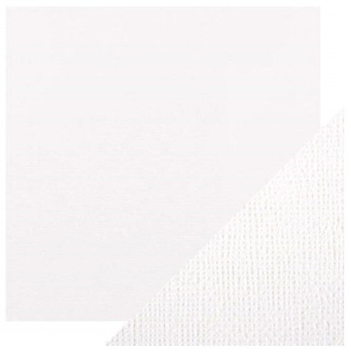 """12""""x12"""" textured cardstock sheet - Bright White"""