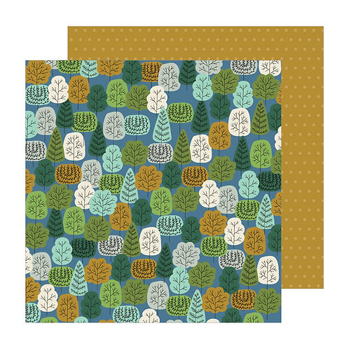 Pebbles The Avenue Wooded Wy. Patterned Paper Sheet