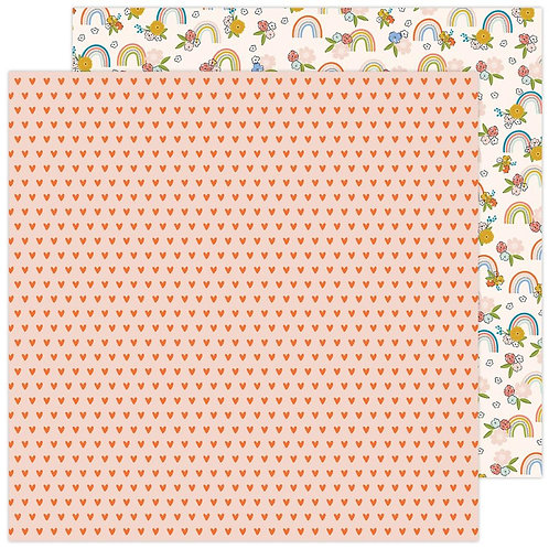 Jen Hadfield Reaching Out Rainbow Blossom patterned paper sheet