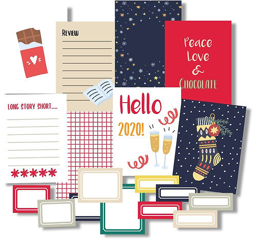 Christmas Edition 2019 Quirky Kit Custom Cards Kit