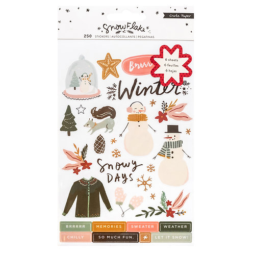 Crate paper Snowflake stickers book