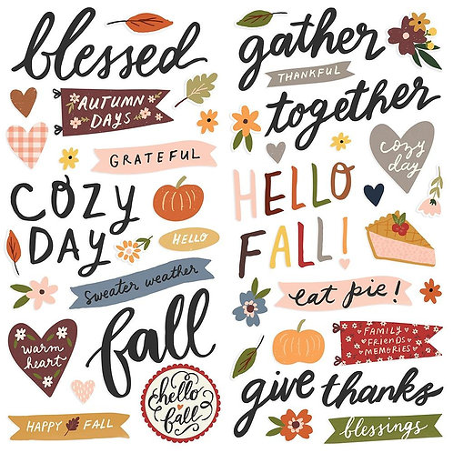 Simple Stories Cozy Days Foam Stickers Pack