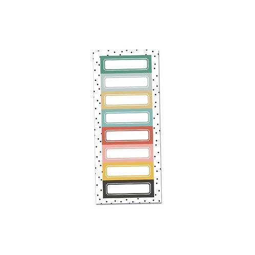 Coloured Labels cut apart sheet