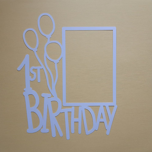 1st Birthday Cut Out