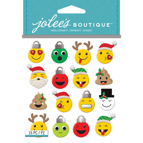 Christmas Emoji Puffy Stickers Set