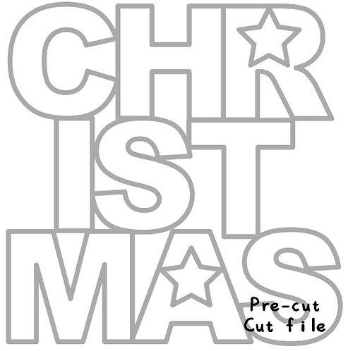 Christmas word precut cut file