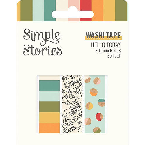 Simple Stories Hello Today Washi Tapes Pack