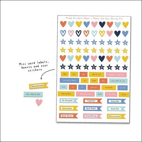 Heart and Soul Mini Stickers Sheet