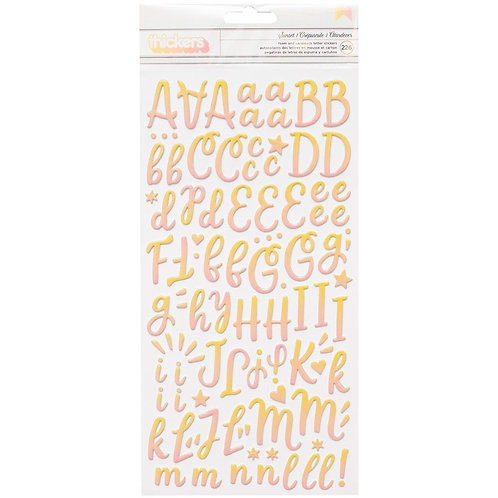 American Crafts Thickers - Sunset- Alphabet Stickers