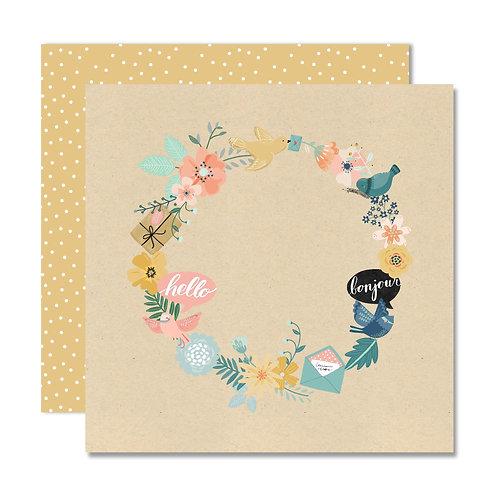 Jan/Feb 2021 Lite Kit Custom Paper - wreath