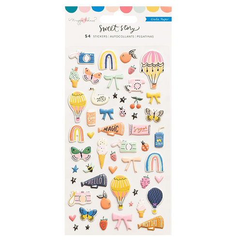 Maggie Holmes Sweet Story Puffy Stickers