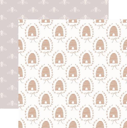 Custom Printed 'Beehive' patterned paper sheet