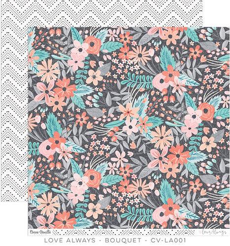 Cocoa Vanilla Love Always Bouquet paper sheet