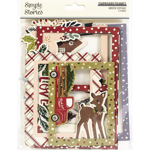 Simple Stories Winter Cottage Chipboard Frames