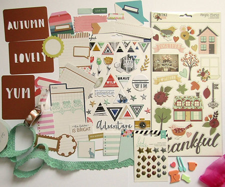 Apple Crumble Embellishment Quirky Kit