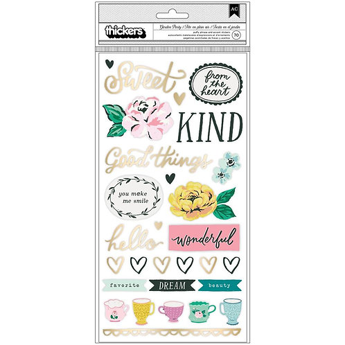 Maggie Holmes Garden Party Thickers phrase/icon stickers pack