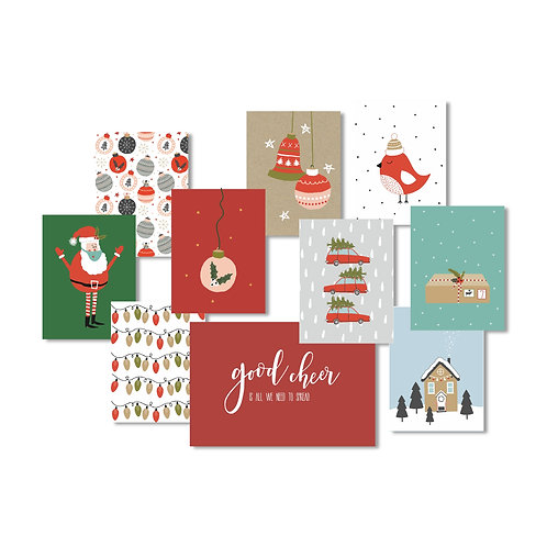 Nov/Dec 2020 Custom Card Kit Pocket Cards Set - Christmas Edition