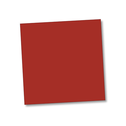 "Red smooth 240gsm smooth cardstock sheet 12""x12"""