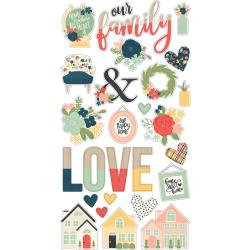 Simple Stories So Happy Together Chipboard Stickers