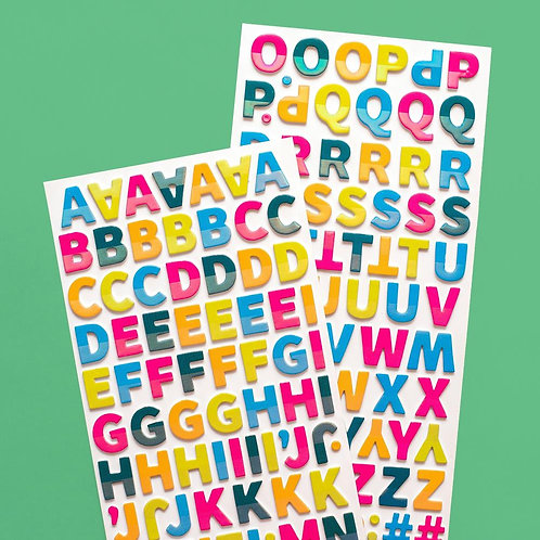 Amy Tangerine Brave and Bold Alphabet Thickers Stickers